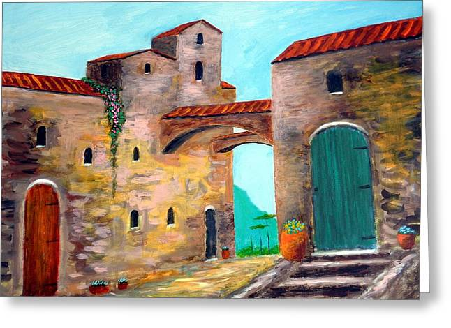 Walls Of Time Greeting Card by Larry Cirigliano