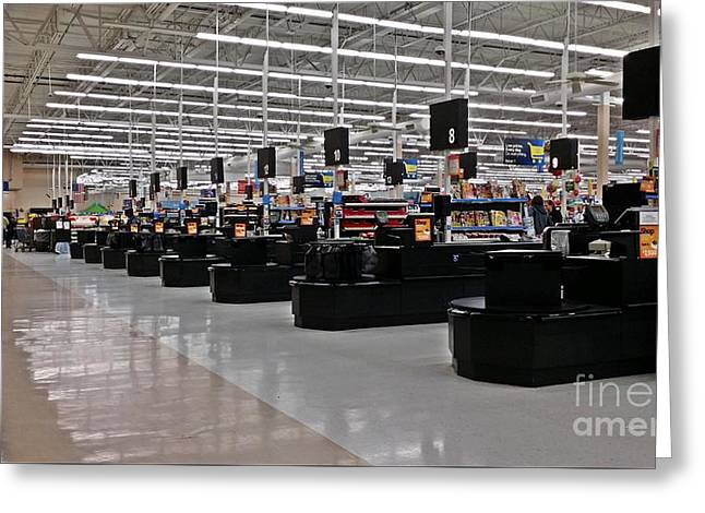 Grocery Store Greeting Cards - Walmart in Staunton, Virginia Greeting Card by Ben Schumin
