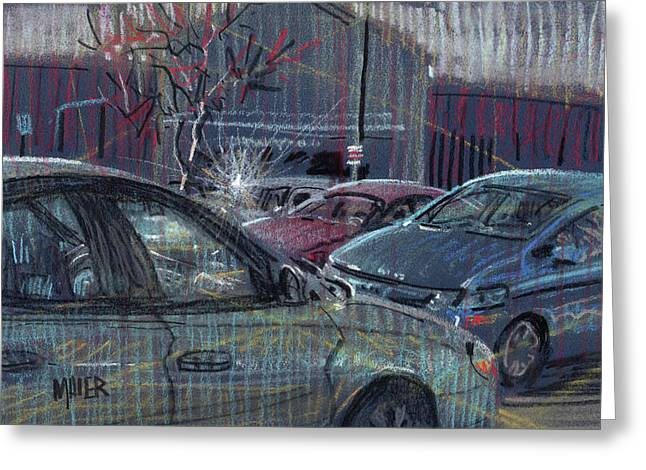 Parking Lots Greeting Cards - Walmart Parking Greeting Card by Donald Maier