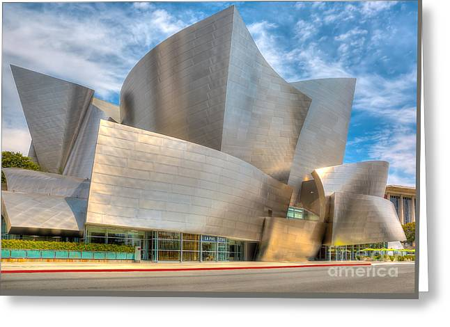 Walt Disney Concert Hall - Los Angeles Greeting Card by Jim Carrell