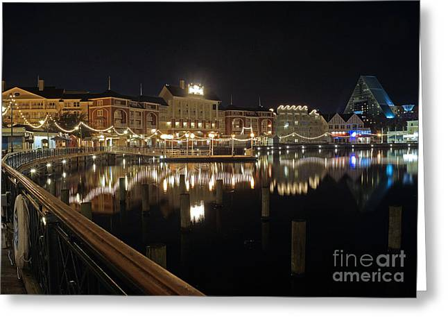 Walt Disney World Greeting Cards - Walt Disney World - Boardwalk Villas  Greeting Card by AK Photography