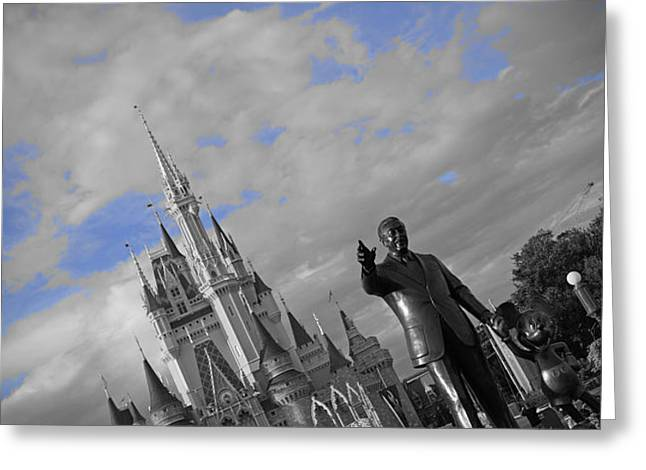 Walt Disney World - Partners Statue Greeting Card by AK Photography