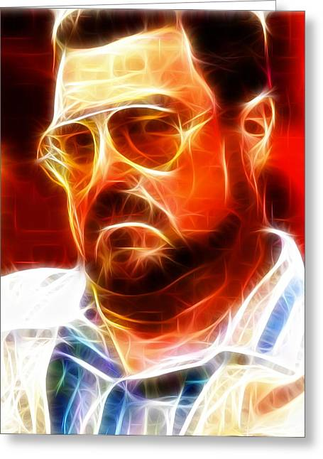 John Goodman Greeting Cards - Walter Sobchak Greeting Card by Paul Van Scott
