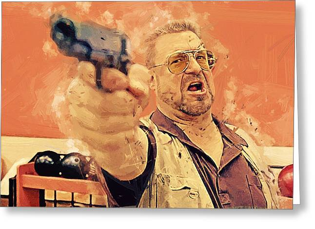 Walter Sobchak - The Big Lebowski Greeting Card by Afterdarkness