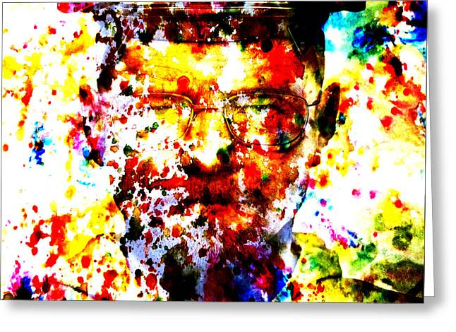 Vince Mixed Media Greeting Cards - Walter White Greeting Card by Brian Reaves