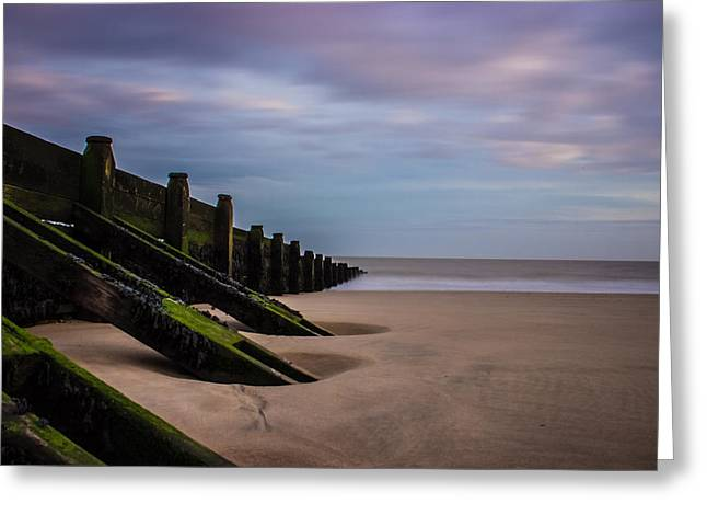Walton On The Naze Beach Greeting Card by Martin Newman