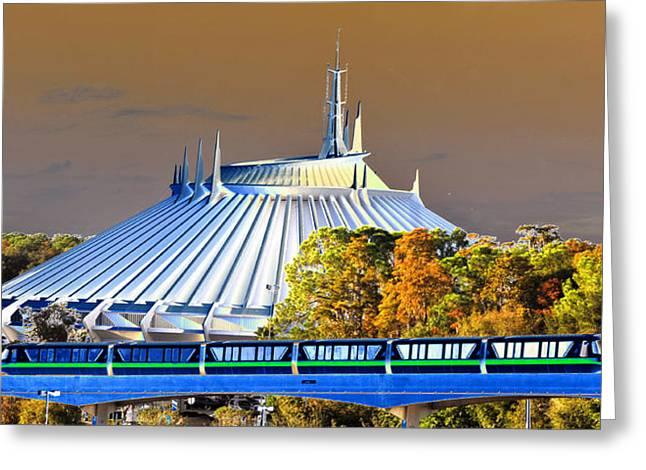 Theme Parks Greeting Cards - Walts modern vision Greeting Card by David Lee Thompson
