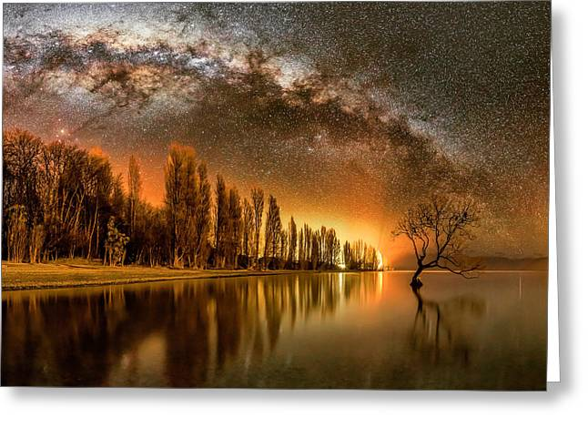 Willow Lake Greeting Cards - Wanaka Way Greeting Card by Mike MacKinven