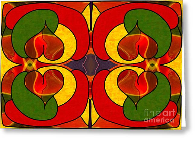 Wandering Levels Of Transformation Abstract Art By Omashte Greeting Card by Omaste Witkowski