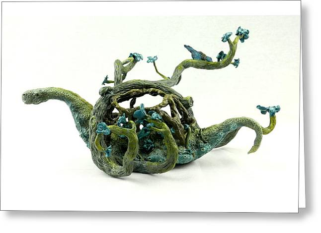 Fish Sculptures Greeting Cards - Wandering protector of life Greeting Card by Przemyslaw Stanuch