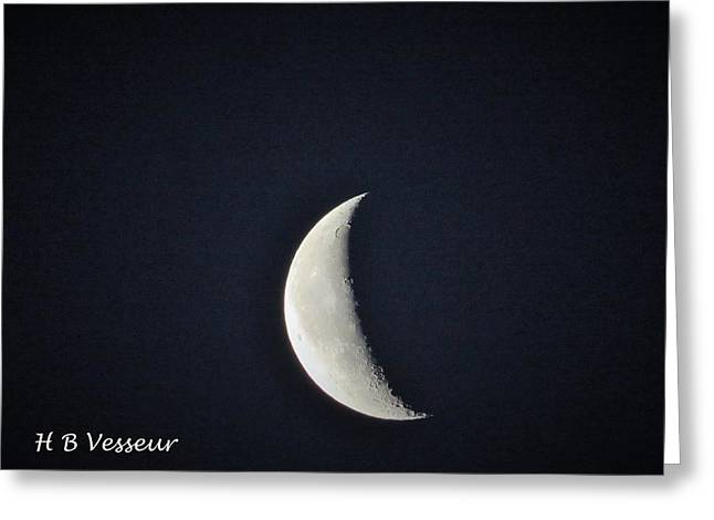 May 24 Greeting Cards - Waning crescent  Greeting Card by B Vesseur