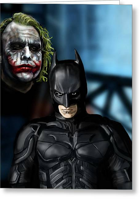 Christian Bale Greeting Cards - Wanna know how I got these scars Greeting Card by Vinny John Usuriello
