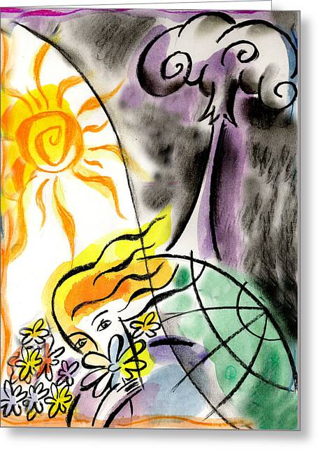 War And Peace Greeting Card by Leon Zernitsky