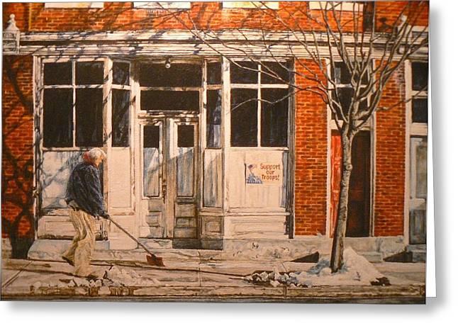 War At Home Greeting Card by Thomas Akers