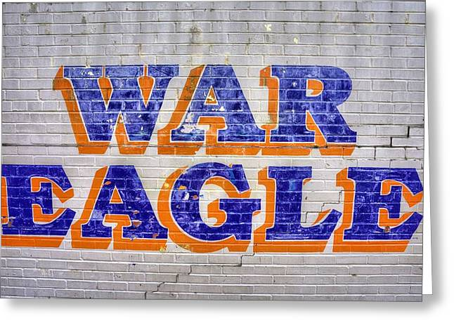 Sec Football Greeting Cards - War Eagle Greeting Card by JC Findley