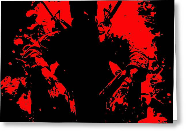 War Is Hell 2 Greeting Card by Brian Reaves