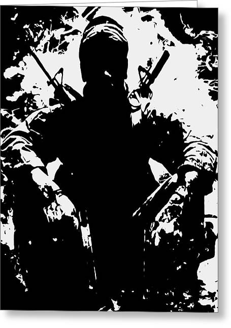 War Is Hell 2a Greeting Card by Brian Reaves