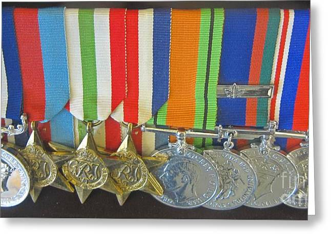 Bravery Greeting Cards - War Medals Greeting Card by John Malone