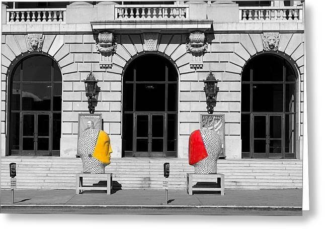 Entrance Door Greeting Cards - War Memorial Opera House - San Francisco Greeting Card by Mountain Dreams
