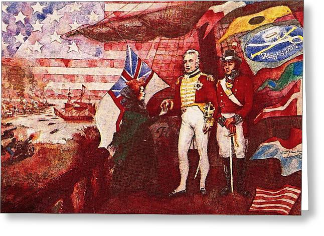 War Of 1812 Greeting Card by Dean Gleisberg