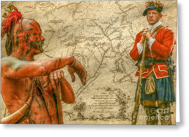 Loyalist Greeting Cards - War Paths French and Indian War Greeting Card by Randy Steele