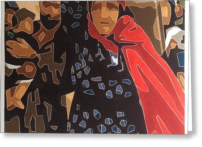 War Refugees Greeting Card by Varvara Stylidou