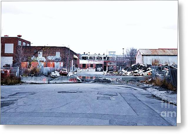 Montreal Street Life Greeting Cards - War Zone 3 Montreal Greeting Card by Reb Frost