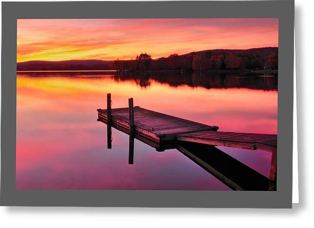 Waramaug Sunset Greeting Card by Thomas Schoeller