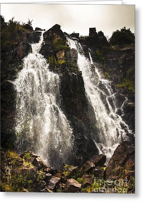 Waratah Water Falls In Tasmania Australia Greeting Card by Jorgo Photography - Wall Art Gallery