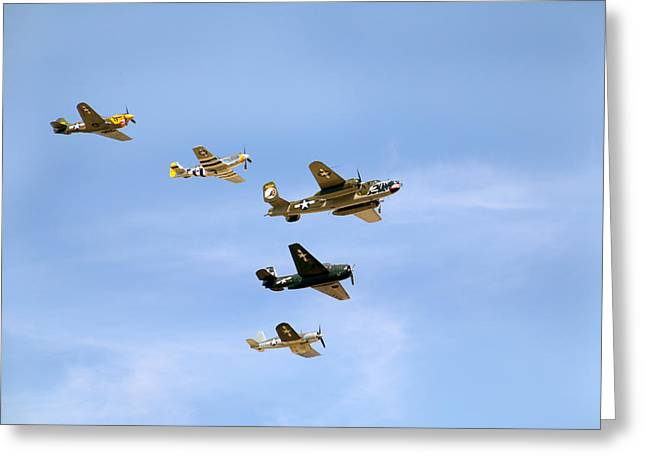 Military Airplanes Greeting Cards - Warbirds Greeting Card by Debbie Nobile