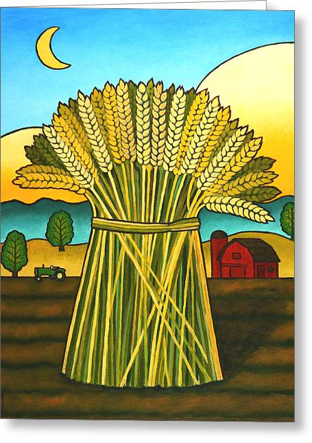 Wheat Greeting Cards - Wards Wheat Greeting Card by Stacey Neumiller