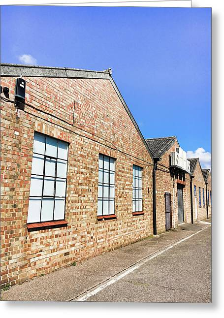 Warehouse Exterior Greeting Card by Tom Gowanlock