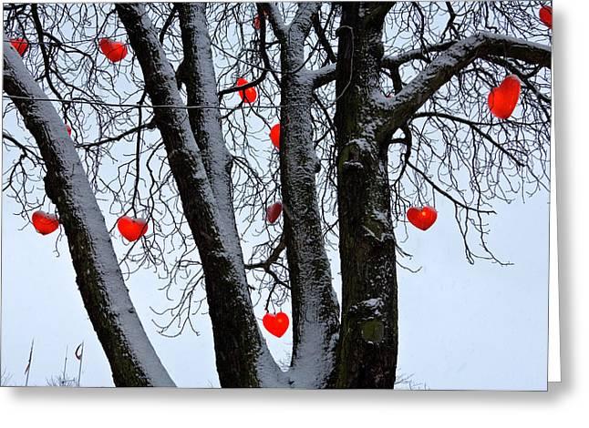 Warm Hearts Color A Tivoli Gardens Greeting Card by Keenpress