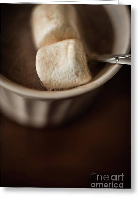 Warm Hot Coco And Marshmallows Greeting Card by Taylor Martinsen