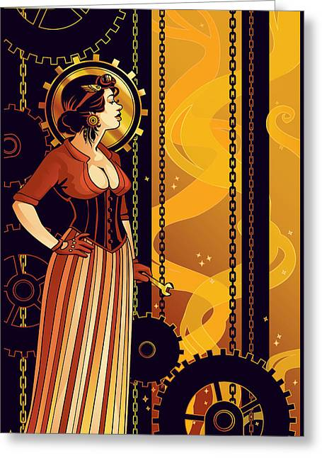 Empowerment Greeting Cards - Warm Machinery Greeting Card by Dani Kaulakis