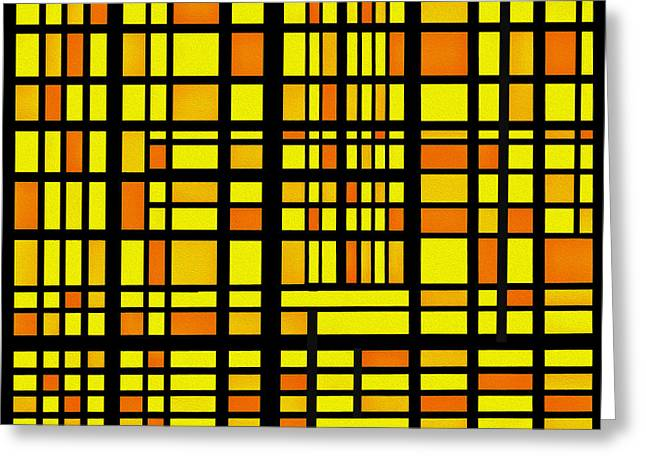 Rectangles Greeting Cards - Warm Rectangles Greeting Card by Ramon Martinez