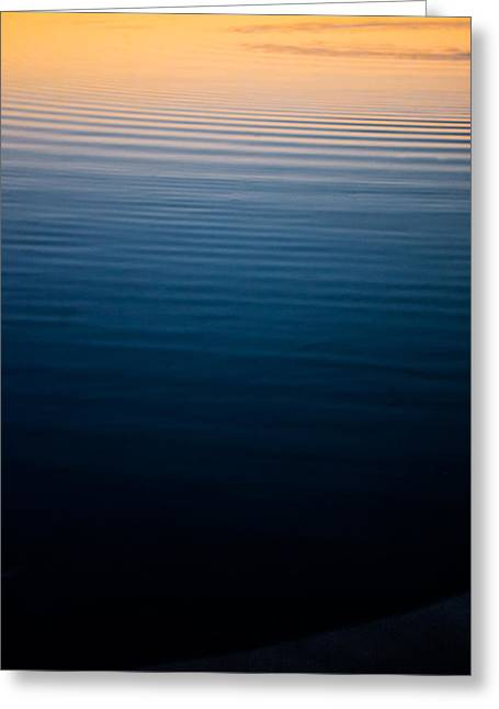 Sunset Abstract Greeting Cards - Warm Ripples Greeting Card by Parker Cunningham