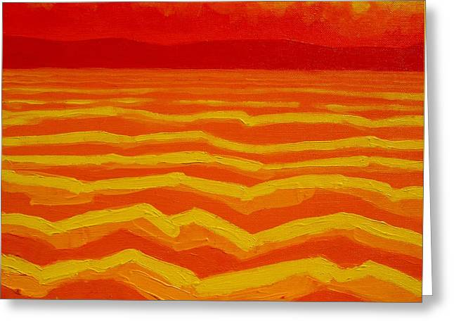 Print Card Greeting Cards - Warm Seascape Greeting Card by John  Nolan