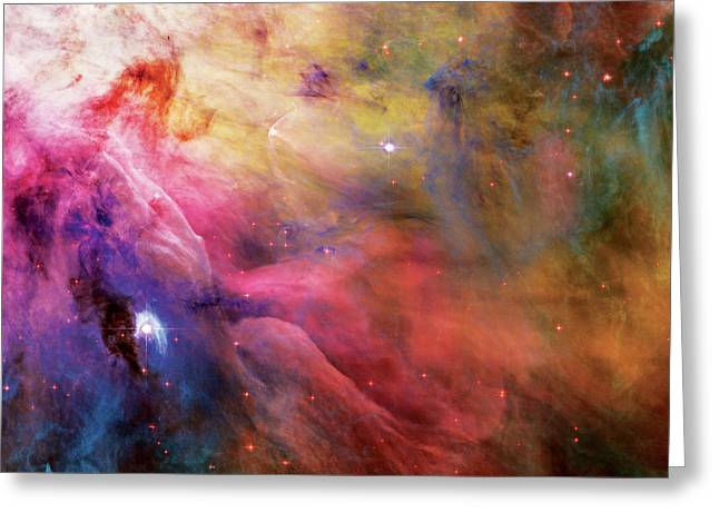 Hubble Photographs Greeting Cards - Warmth - Orion Nebula Greeting Card by The  Vault - Jennifer Rondinelli Reilly