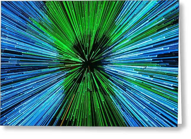 Warp Speed Greeting Cards - Warp Speed Mr Sulu Greeting Card by Tony Beck