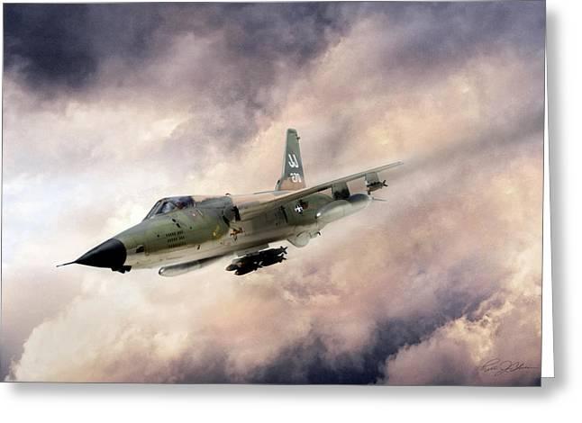 Era Digital Greeting Cards - Warpath F-105 Greeting Card by Peter Chilelli