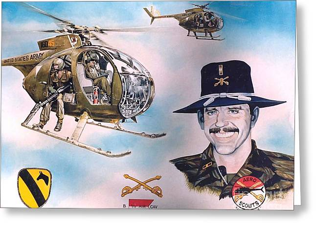 Warrant Greeting Cards - Warrant Officer Oldham Greeting Card by Patrick Griffin
