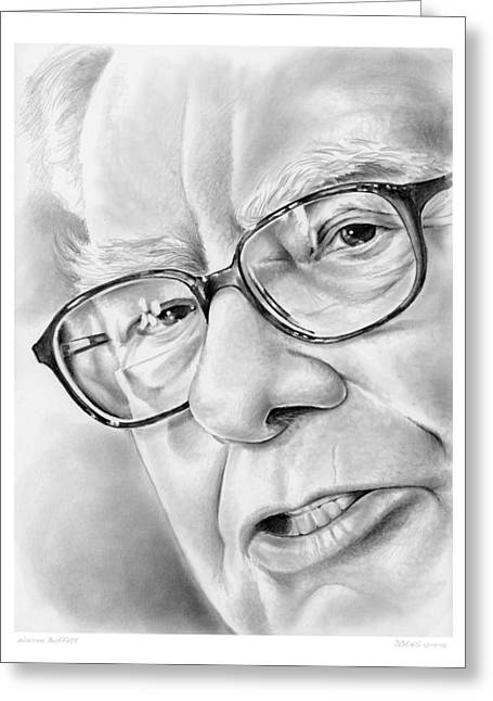 Warren Buffett Greeting Card by Greg Joens