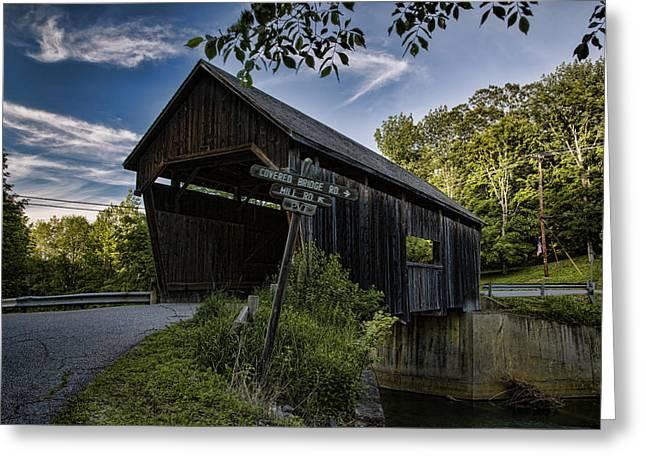Covered Bridge Greeting Cards - Warren Covered Bridge Greeting Card by Stephen Stookey