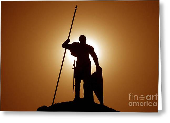 Warrior Greeting Cards - Warrior Greeting Card by David Lee Thompson