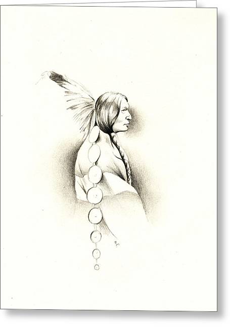 Face In Profile Greeting Cards - Warrior Profile Greeting Card by Robert Martinez