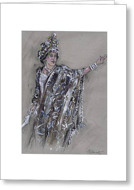 Procession Framed Prints Greeting Cards - Warrior Queen or Reina Guerrera Greeting Card by Jill Bennett