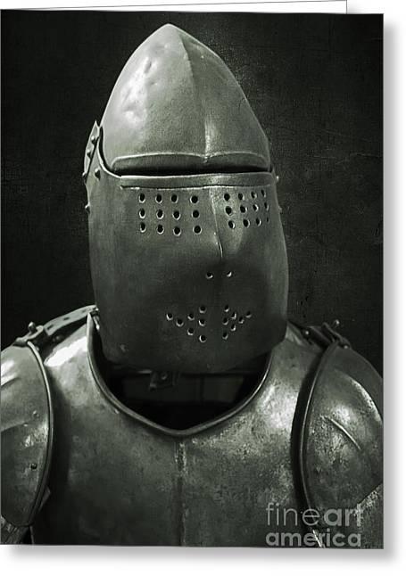 Masked Crusader Greeting Cards - Warrior  Greeting Card by Svetlana Sewell