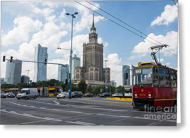 Polish Culture Greeting Cards - Warsaw Skyline 1 Greeting Card by Marcin Rogozinski