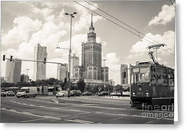 Polish Culture Greeting Cards - Warsaw Skyline 2 Greeting Card by Marcin Rogozinski